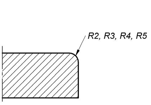 BM-18 скругление кромки R2, R3, R4, R5